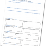 Seven Steps to Character Creation Worksheet