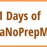 31 Days of NaNoPrepMo: Day 30